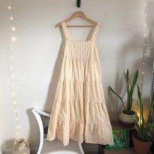 Madewell Tiered Sundress Yellow & White Stripes 14